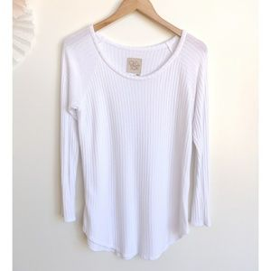 Chaser White Long Sleeve Thermal Top